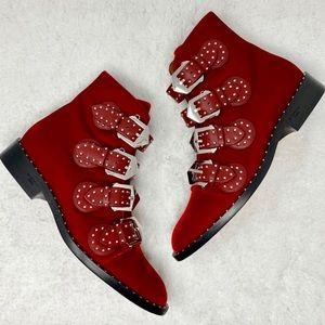 Givenchy Velvet Studded Ankle Boots